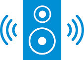 Vector illustration of a Bluetooth Speaker Icon.