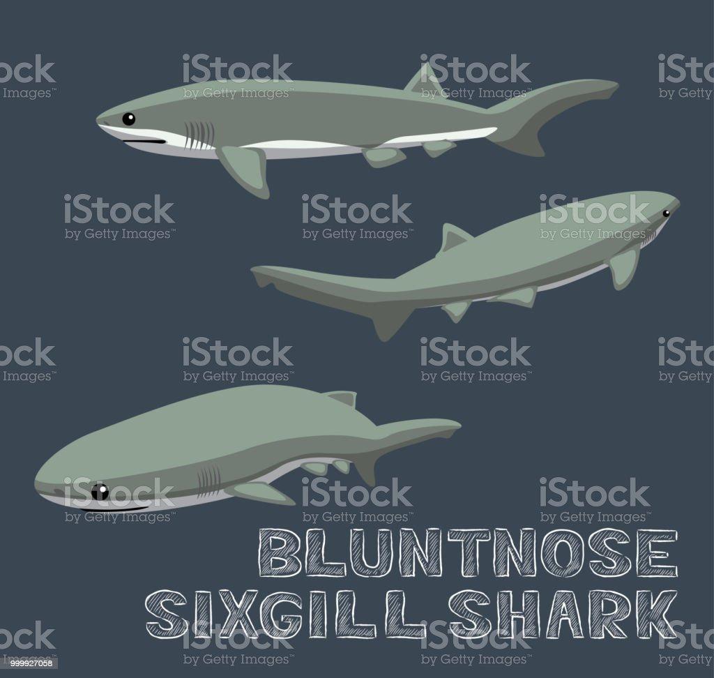Ilustración de Chata Contemplarse Tiburón Cartoon Vector Ilustración ...