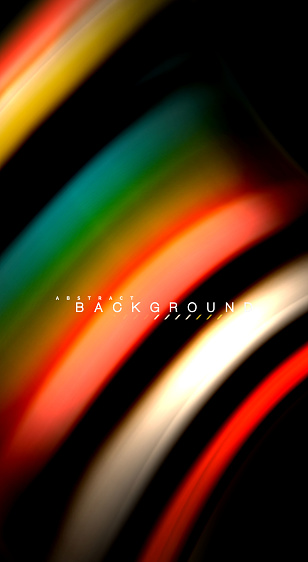 Blur Color Wave Lines Abstract Background Stock Illustration - Download Image Now