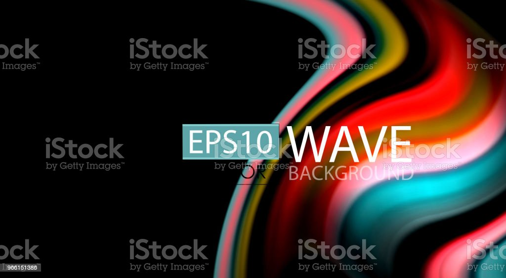 Blur color wave lines abstract background - Royalty-free Abstract stock vector