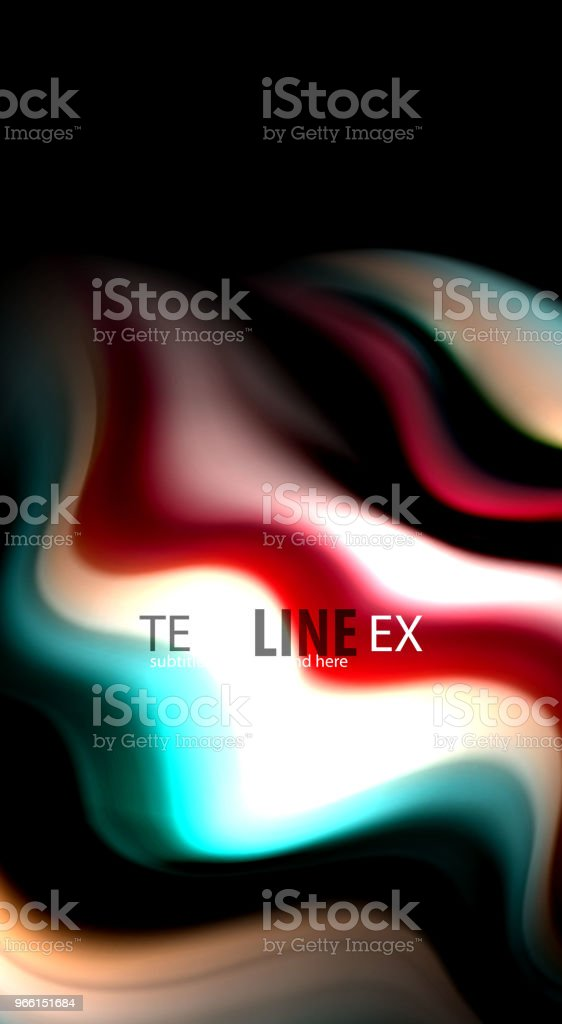 Blur color wave lines abstract background - arte vettoriale royalty-free di Arte
