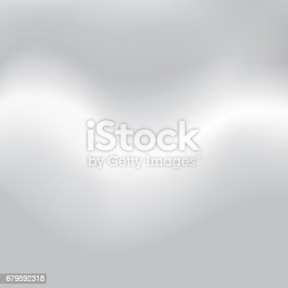 istock Blur gray background. Abstract white and grey background subtle chrome texture. Metal blurred surface 679592318