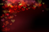 Blur heart on dark abstract background vector illustration EPS 10