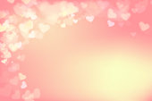 Blur heart on light pink abstract background vector illustration EPS 10