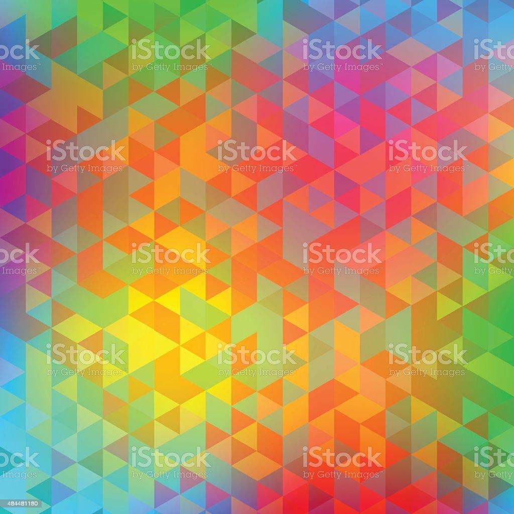 Blur kaleidoscope vector art illustration