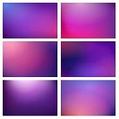 Blur purple lights backgrounds. Colorful purple blurred festive textures, color energy party purples club gradient images