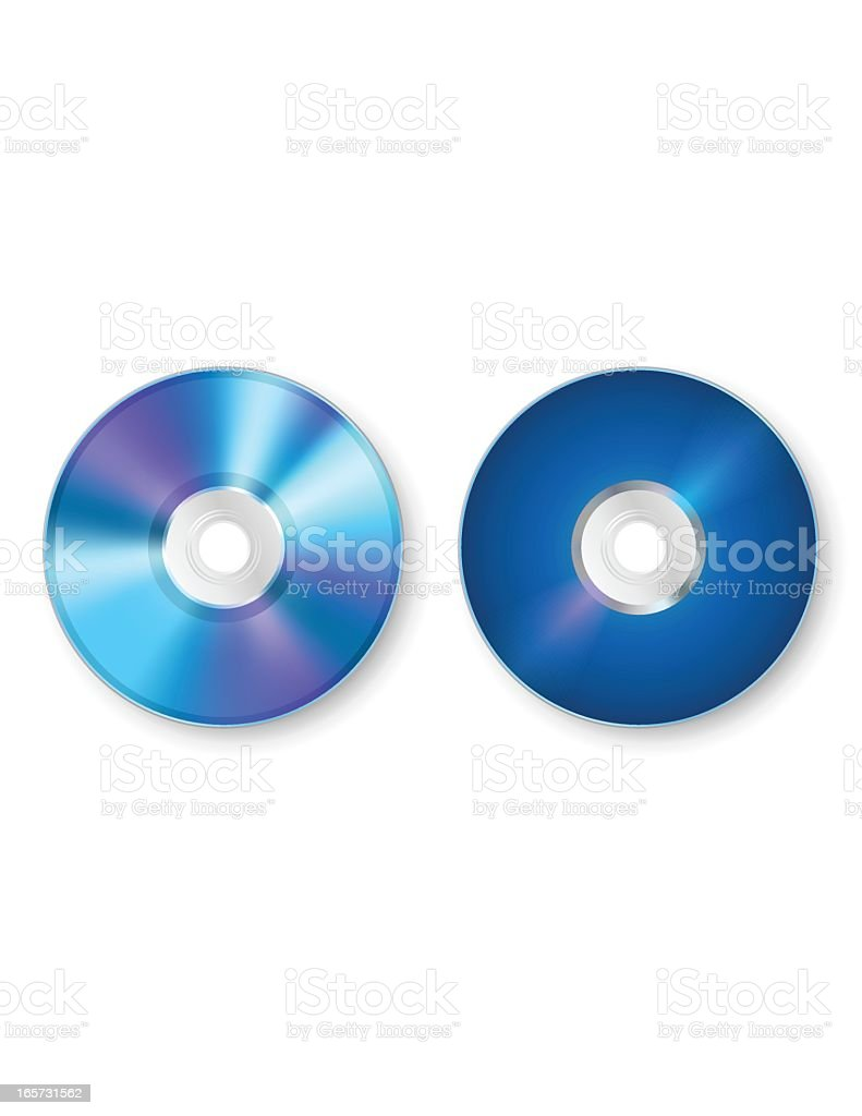 Blu-ray/DVD - Two Sides royalty-free stock vector art