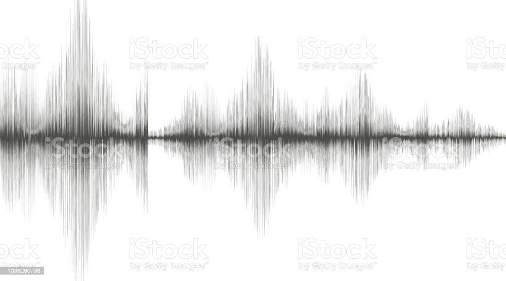 Bewegungsunschärfe Erdbeben Welle Auf Weißem Papierhintergrund ...