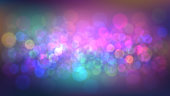 Blurred abstract background with party, nightclub. Night city lights