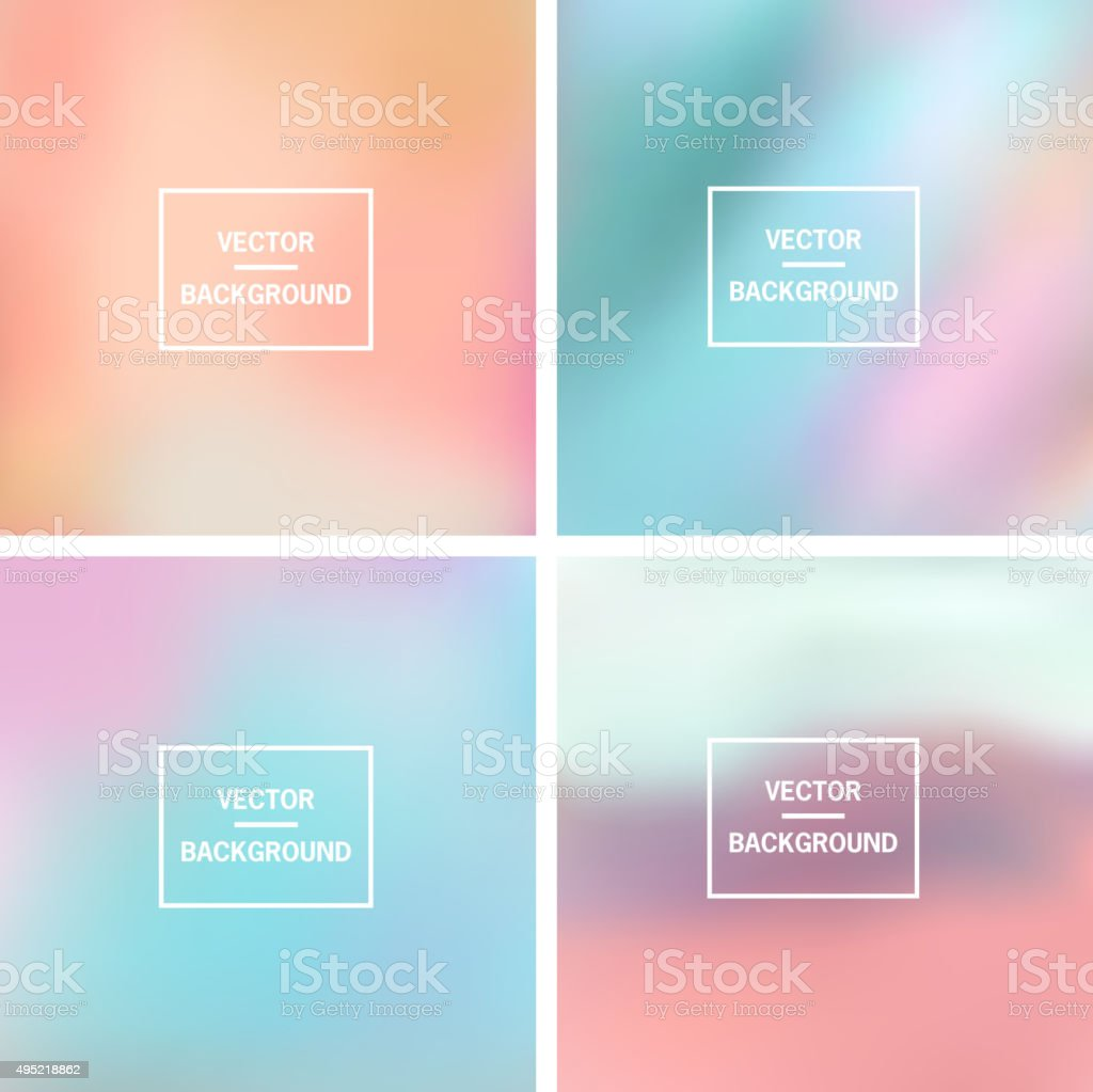 Blurred Backgrounds Collection vector art illustration