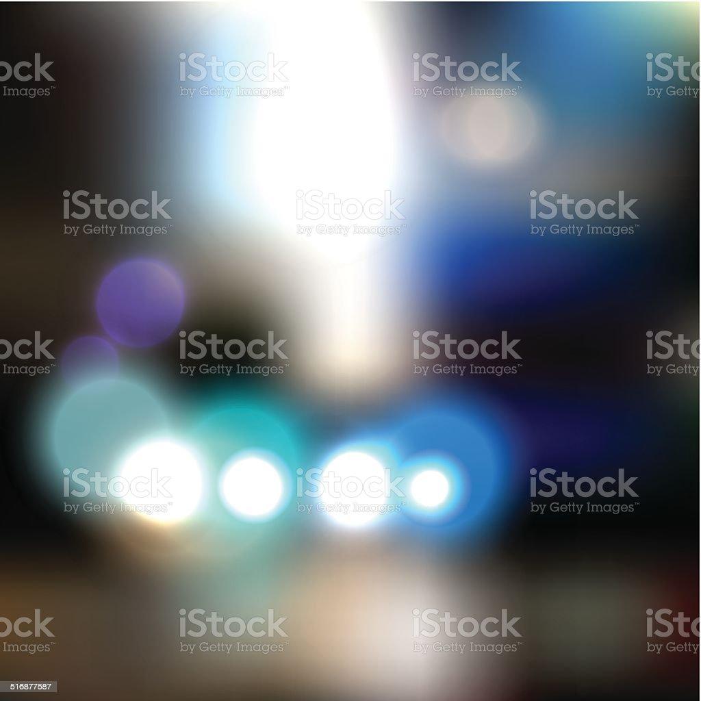 Blurred city background vector art illustration