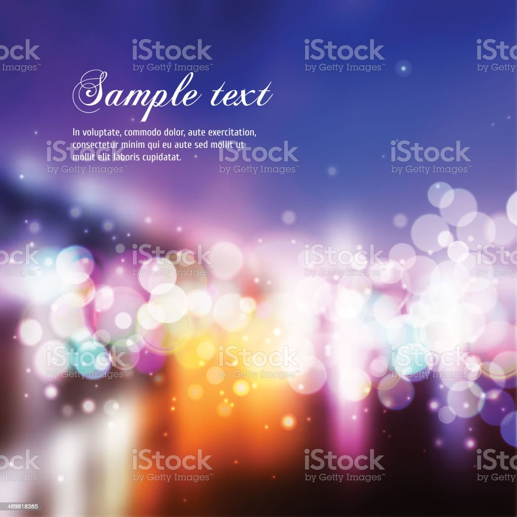 Blurred colorful lights on a background template vector art illustration