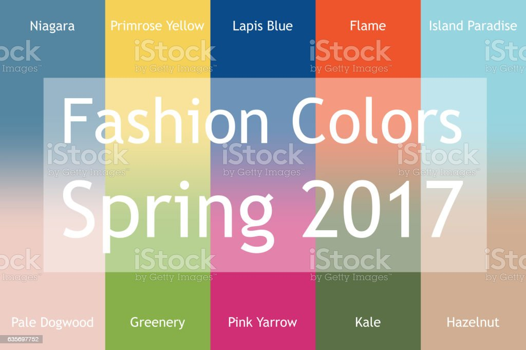 Blurred fashion infographic with trendy colors royalty-free blurred fashion infographic with trendy colors stock vector art & more images of 2017