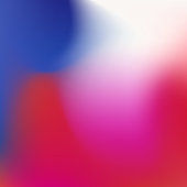 Blurred gradient with colorful blue and red waves for mobile screen