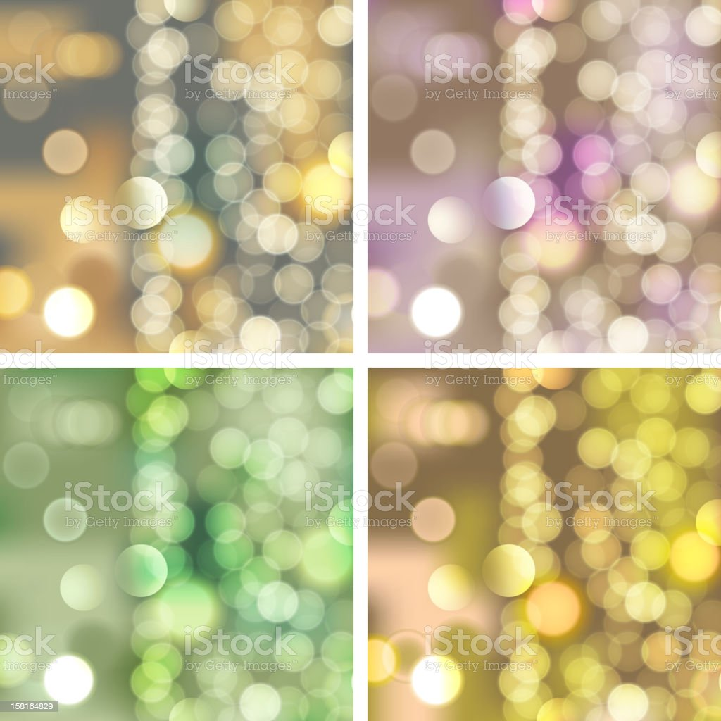 blurred lights backgrounds, vector eps 10 royalty-free stock vector art