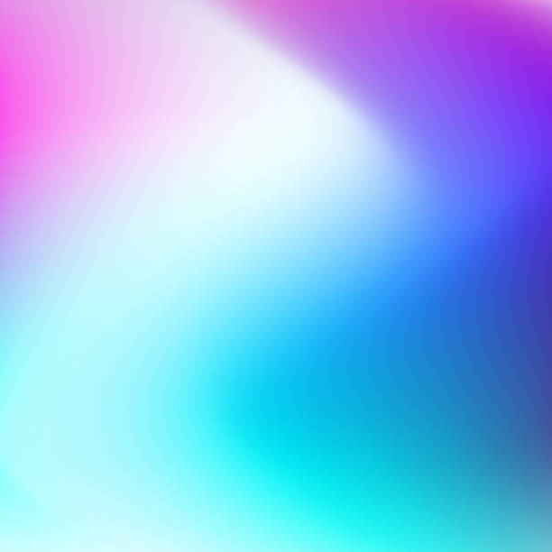 ilustrações de stock, clip art, desenhos animados e ícones de blurred multicolored vector background. smooth hues of white, turquoise, blue, purple gradient. abstract neon zigzag pattern. art bright template for modern creative design. eps10 illustration - focagem no primeiro plano