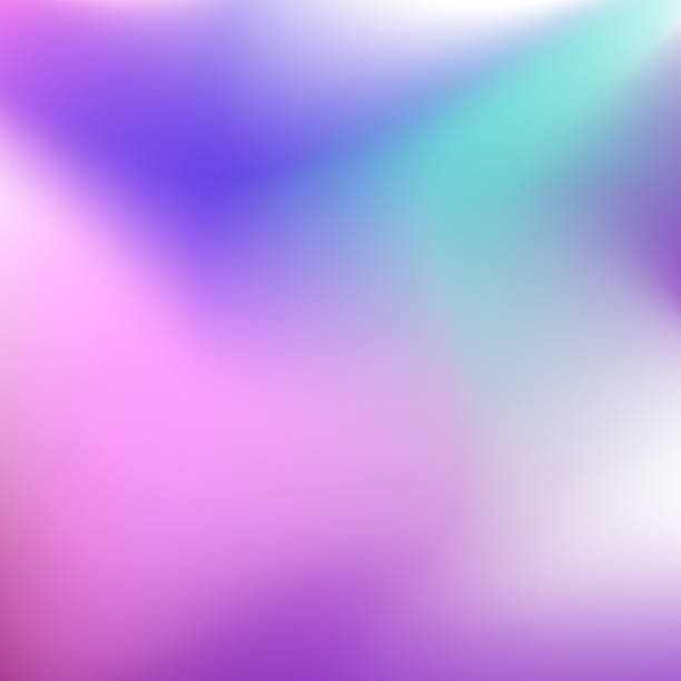 ilustrações de stock, clip art, desenhos animados e ícones de blurred multicolored vector background. smooth tones of pink, blue, aquamarine gradient. abstract neon stains. art bright template for modern creative design. eps10 illustration - focagem no primeiro plano