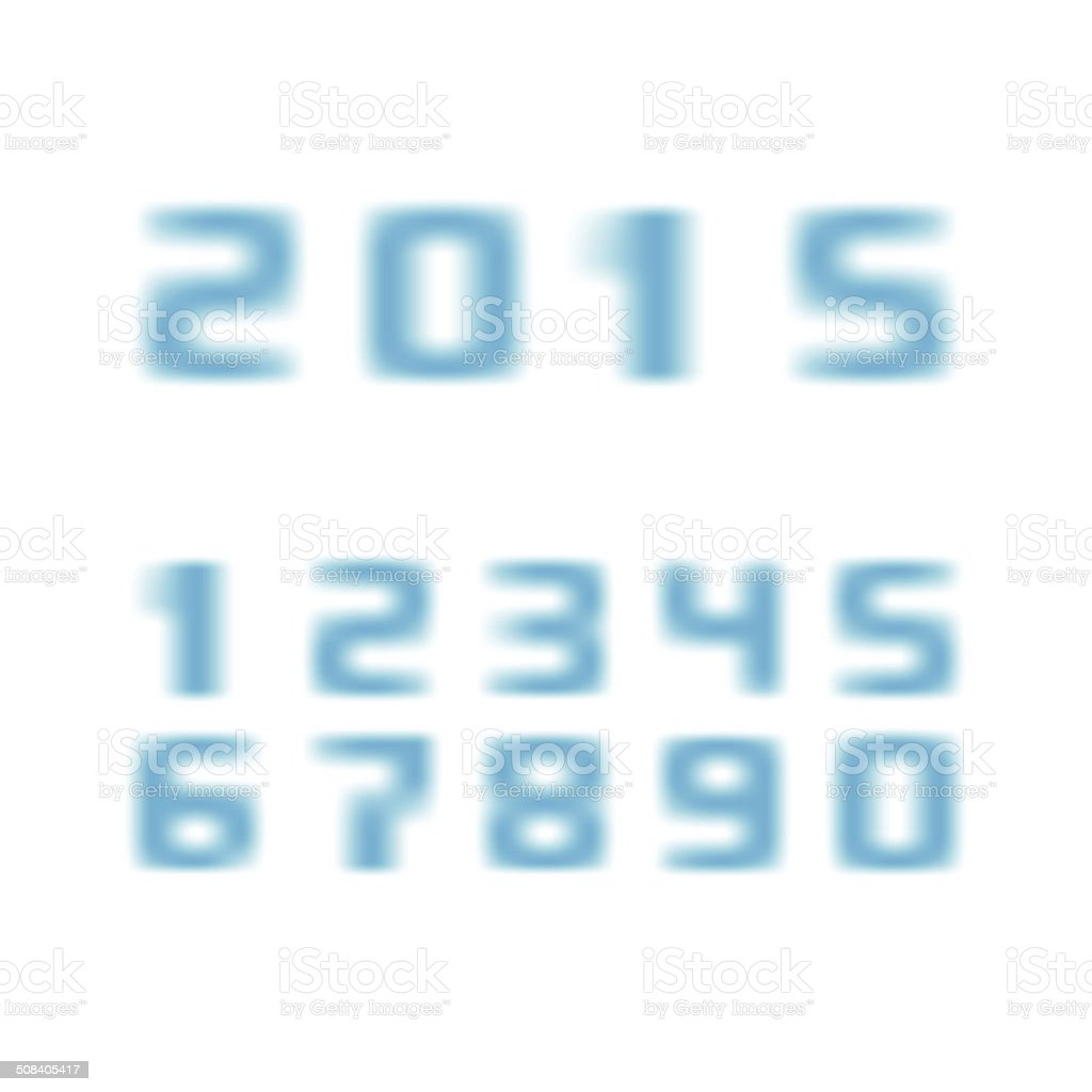 blurred numbers royalty-free stock vector art