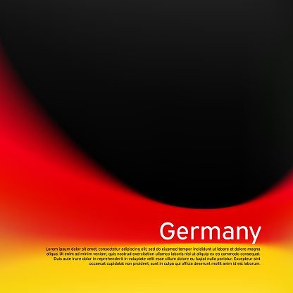 Blurred pattern in the colors of the german flag. Germany flag background. National poster, banner of germany. State german patriotic cover, flyer, business booklet. Vector tricolor design