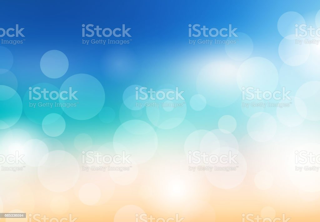 Blurred summer background. Beach with sparkles and bokeh. Vector background for your creativity vector art illustration