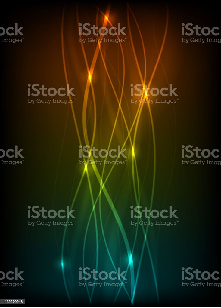 Blurry abstract light effect background vector art illustration