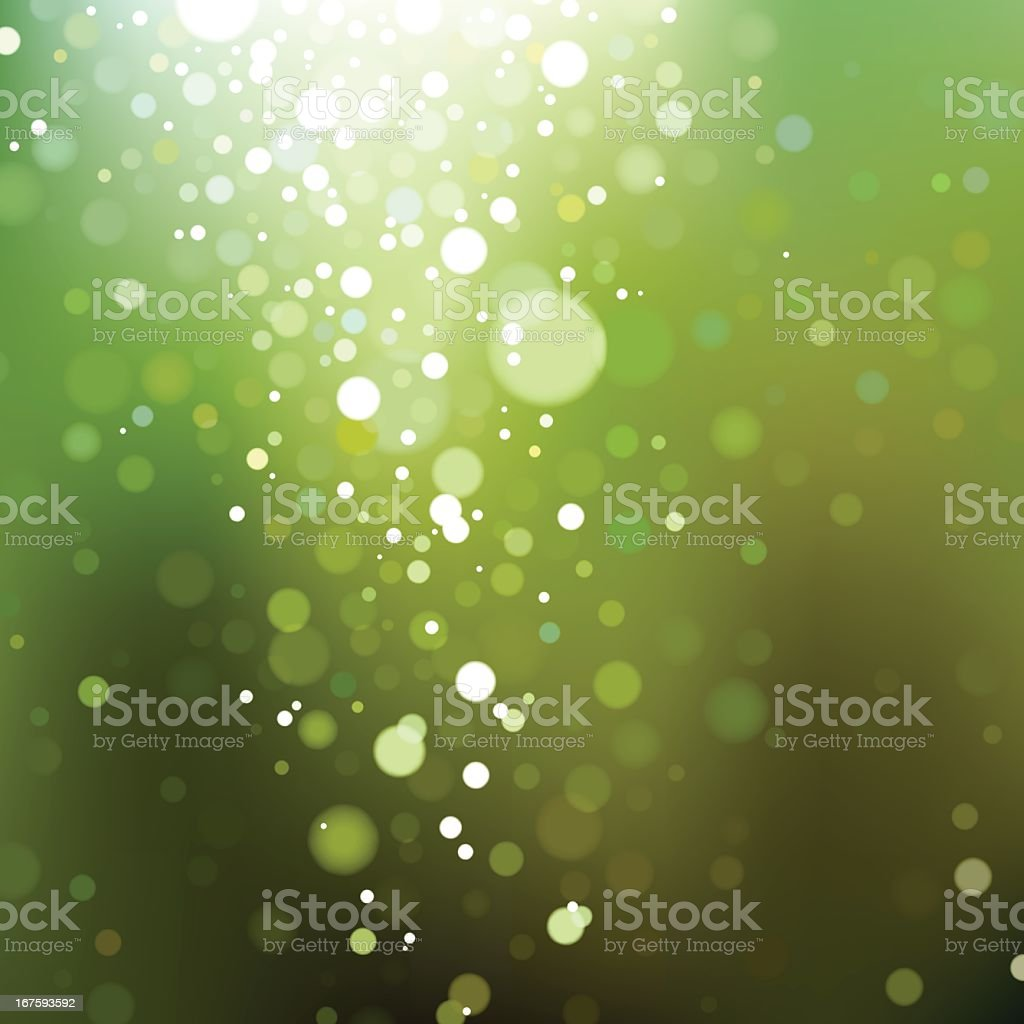 Blurry Green Lights. EPS8 royalty-free stock vector art