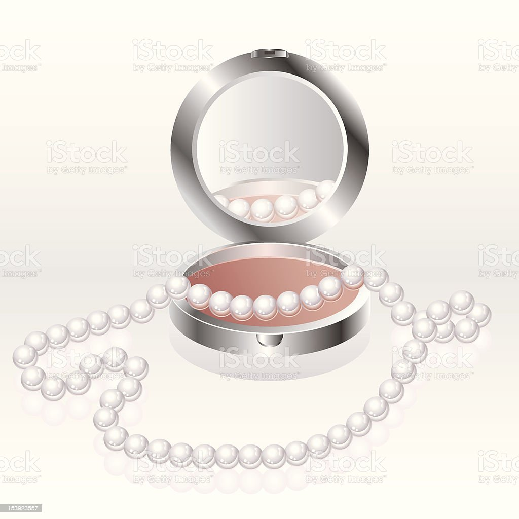 Blush with pearl necklace royalty-free stock vector art