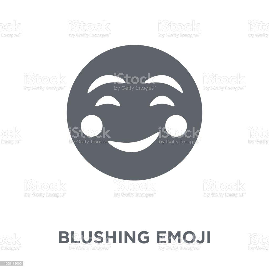 Blushing emoticon text