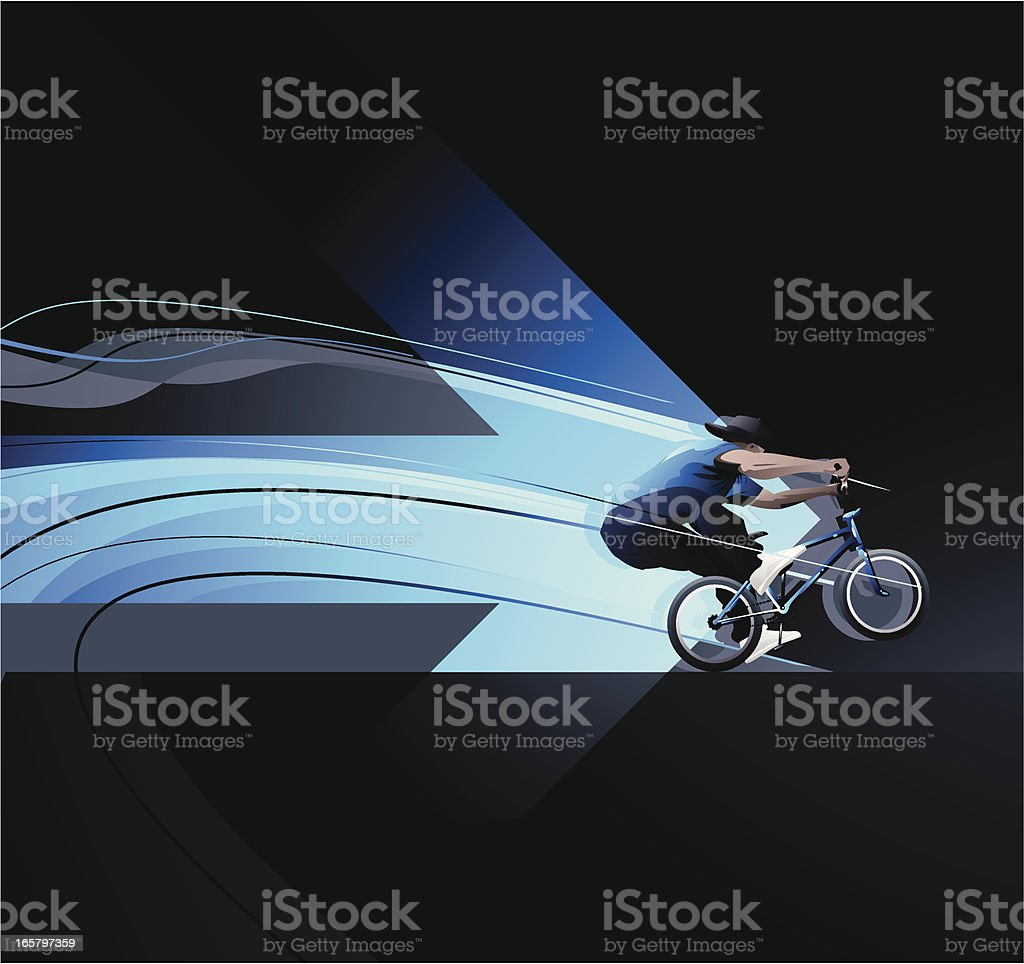 BMXer royalty-free stock vector art