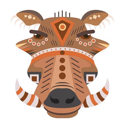 Boar Head icon. Vector decorative Emblem.