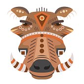 Boar Head icon. Vector decorative Emblem.