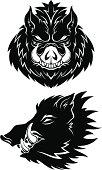 Boar heads