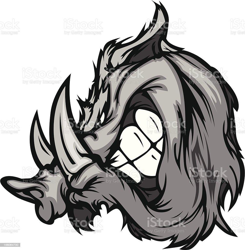 Boar Razorback Cartoon Face Vector Illustration royalty-free boar razorback cartoon face vector illustration stock vector art & more images of animal
