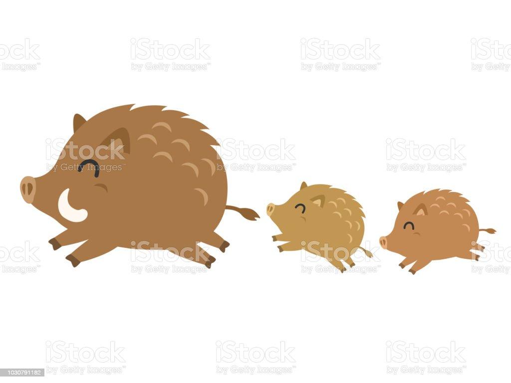 Boar vector art illustration