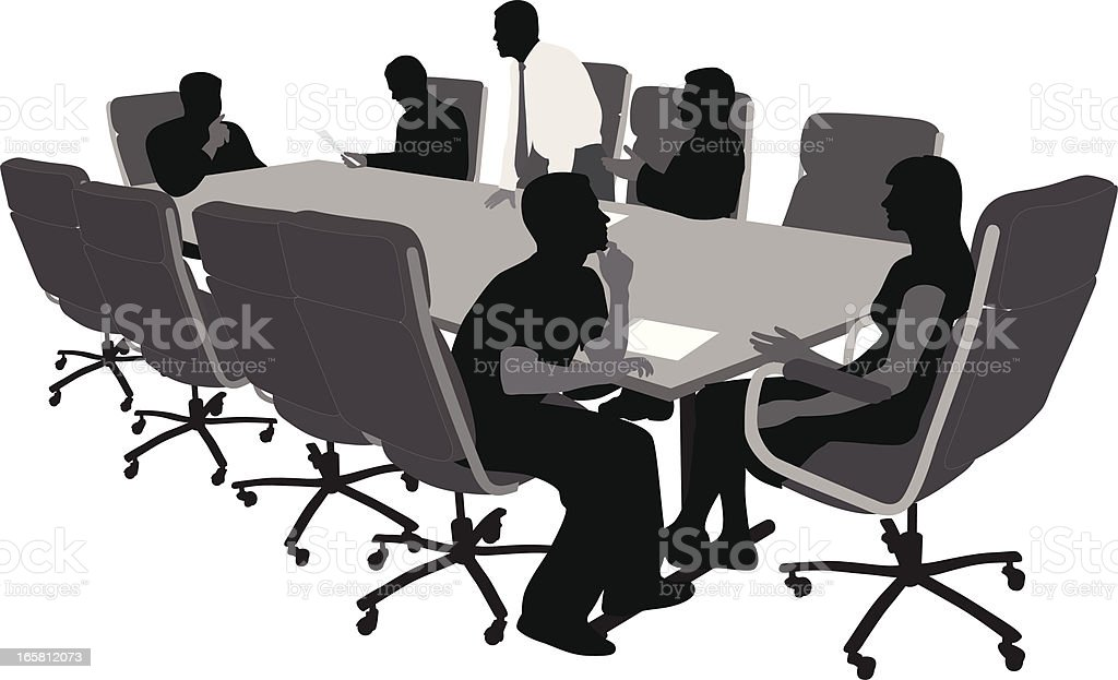 Board Decisions Vector Silhouette vector art illustration