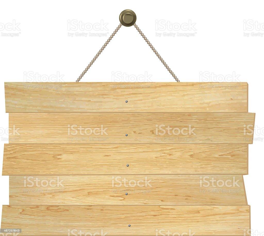 Planche de bois - Illustration vectorielle