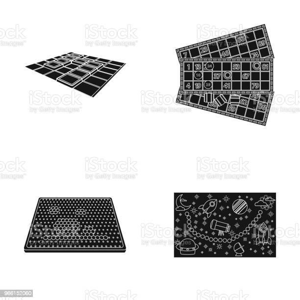 Brädspel Svart Ikoner I Set Insamling För Design Spel Och Underhållning Vektor Symbol Lager Web Illustration-vektorgrafik och fler bilder på Applikation