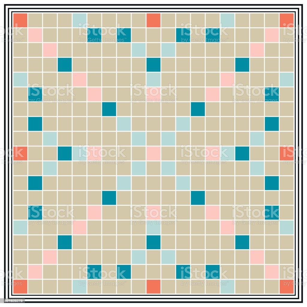 棋盤遊戲博學多識,學歷,板最大的拼字遊戲,向量玩你的朋友或家庭遊戲之夜,讓從字母的單詞向量藝術插圖