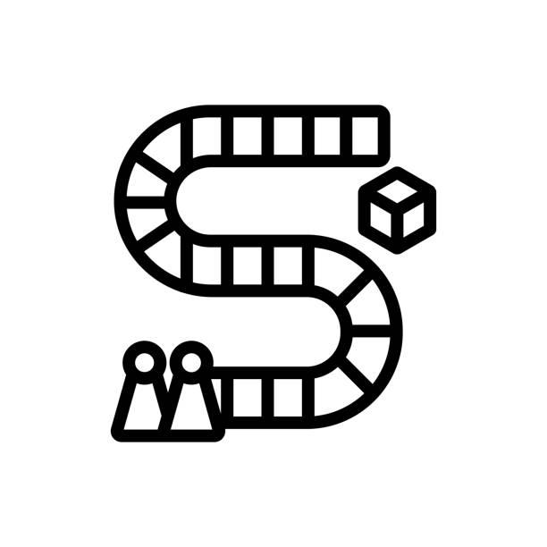 Board game icon vector outline illustration Board game icon vector. Board game sign. isolated contour symbol illustration backgammon stock illustrations