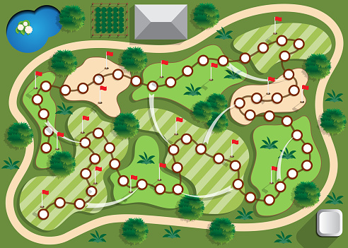 A board game on the theme of golf.
