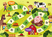Board game template farm theme