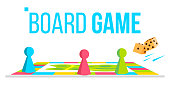 istock Board Game Vector. Field Space. Logical Table Game For Kids. Isolated Flat Cartoon Illustration 1088415944