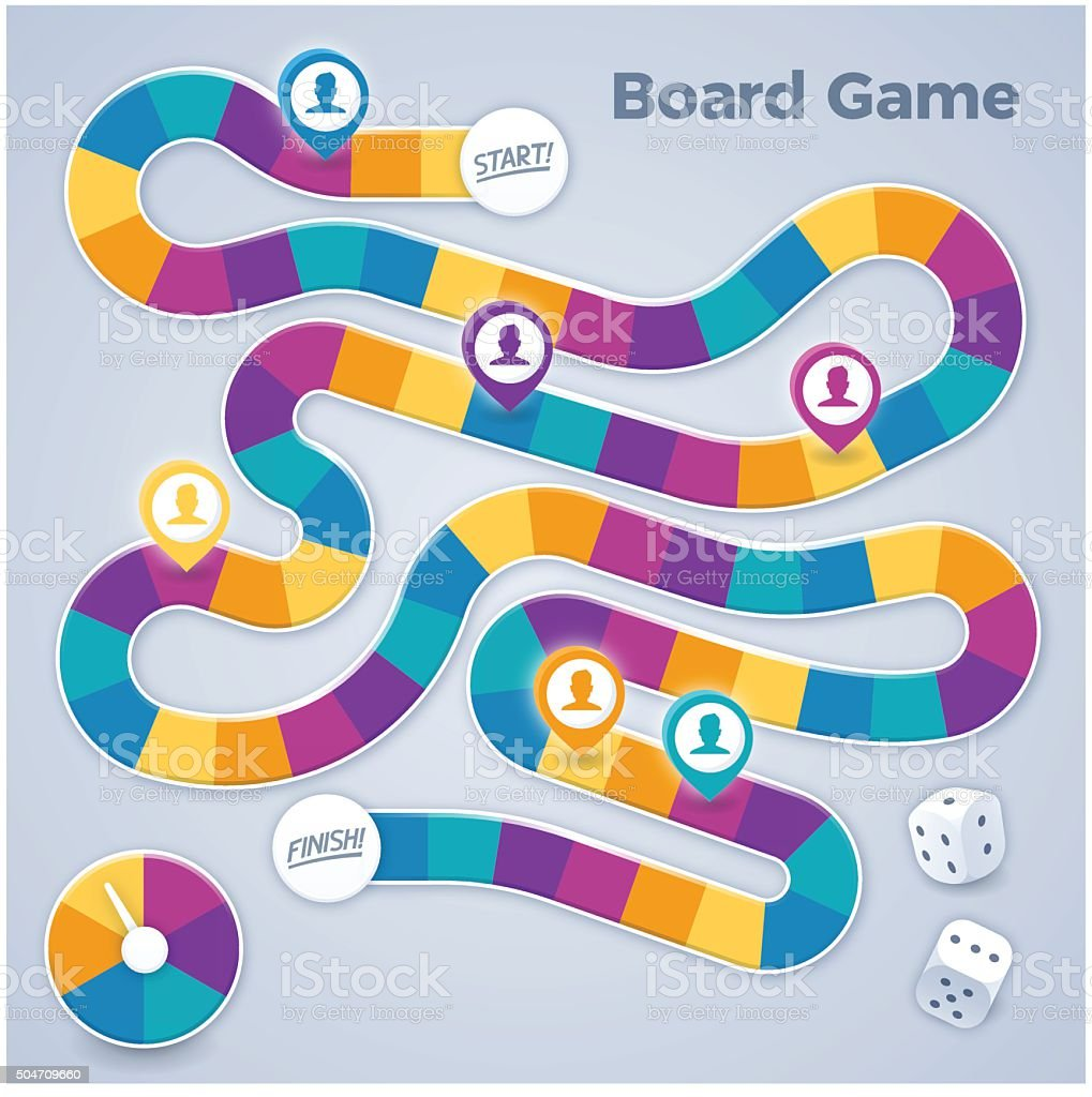 Board Game vector art illustration