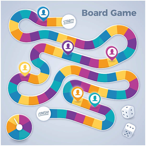 board game - journey vector stock illustrations, clip art, cartoons, & icons