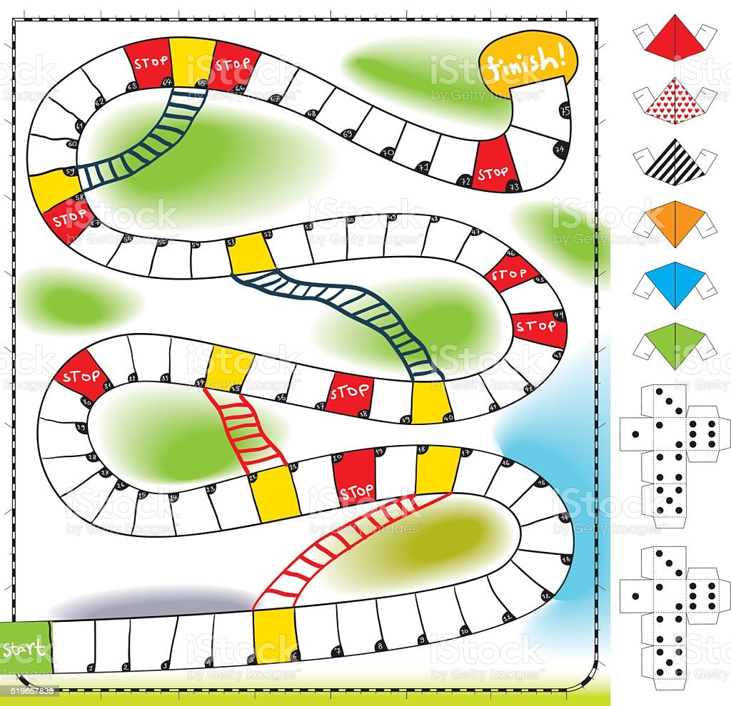 board game vector art illustration