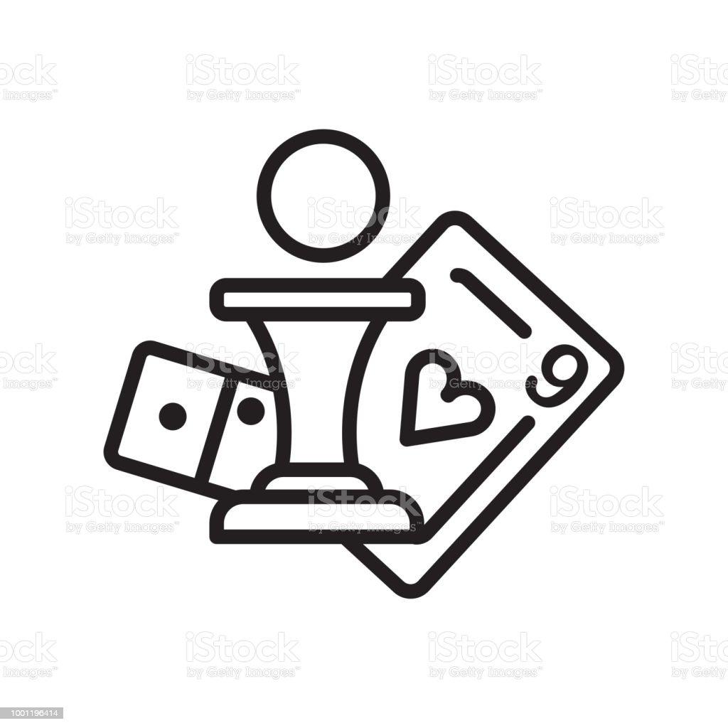 Juegos de mesa establece icono vector de señal y símbolo aisladas sobre fondo blanco - ilustración de arte vectorial