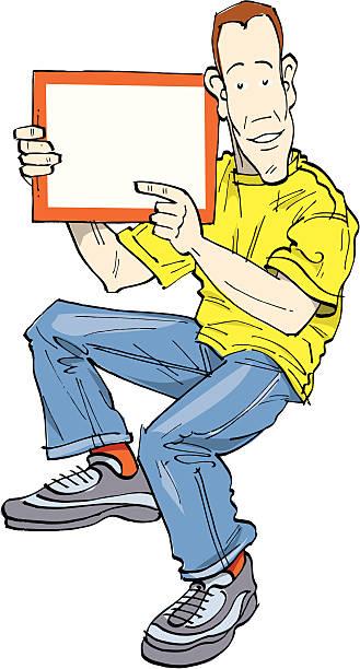 Board man vector art illustration