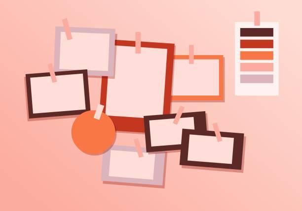 Board mood template. Modern brand mood concept design template.