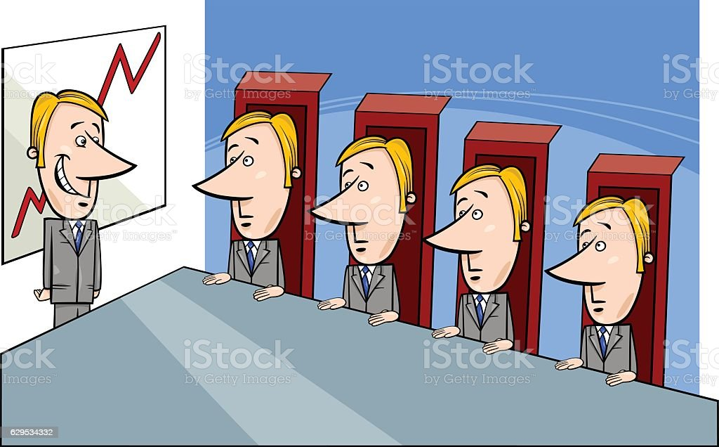 board of directors cartoon vector art illustration