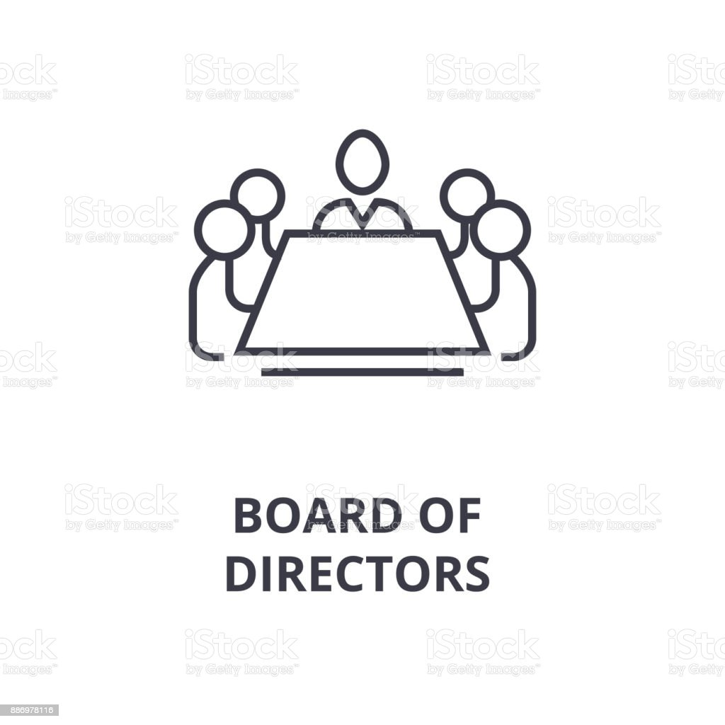 Board of directors line icon outline sign linear symbol vector board of directors line icon outline sign linear symbol vector flat illustration pooptronica Choice Image